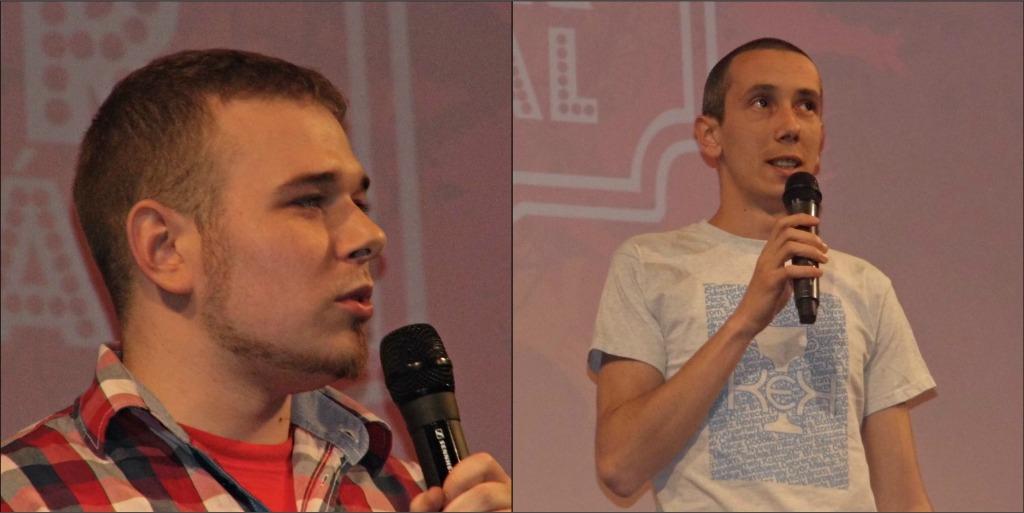 Szabó Nándor és András Előd (utóbbiról mindneki azt gondolta, hogy a Baróti Star TV Sanyikája)