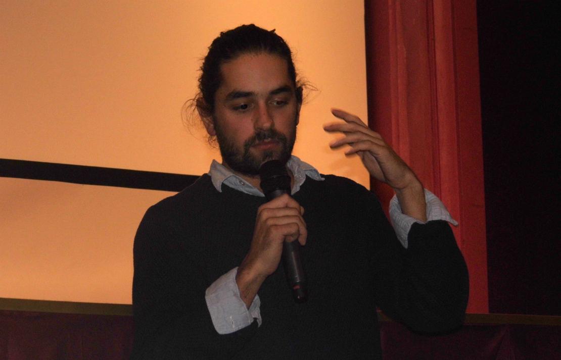 A rendező, Szimler Bálint következő terve a játékfilm (a szerző fotója)